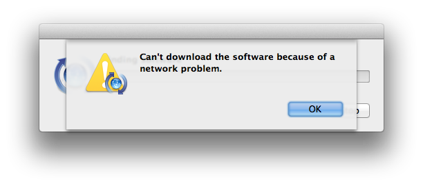 cant download the software because of a network problem iphone